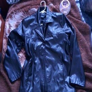 A fun, long, comfy, black coat